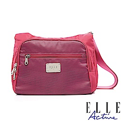 ELLE Active 摩登都會系列-側背包/斜背包-小-桃紅色