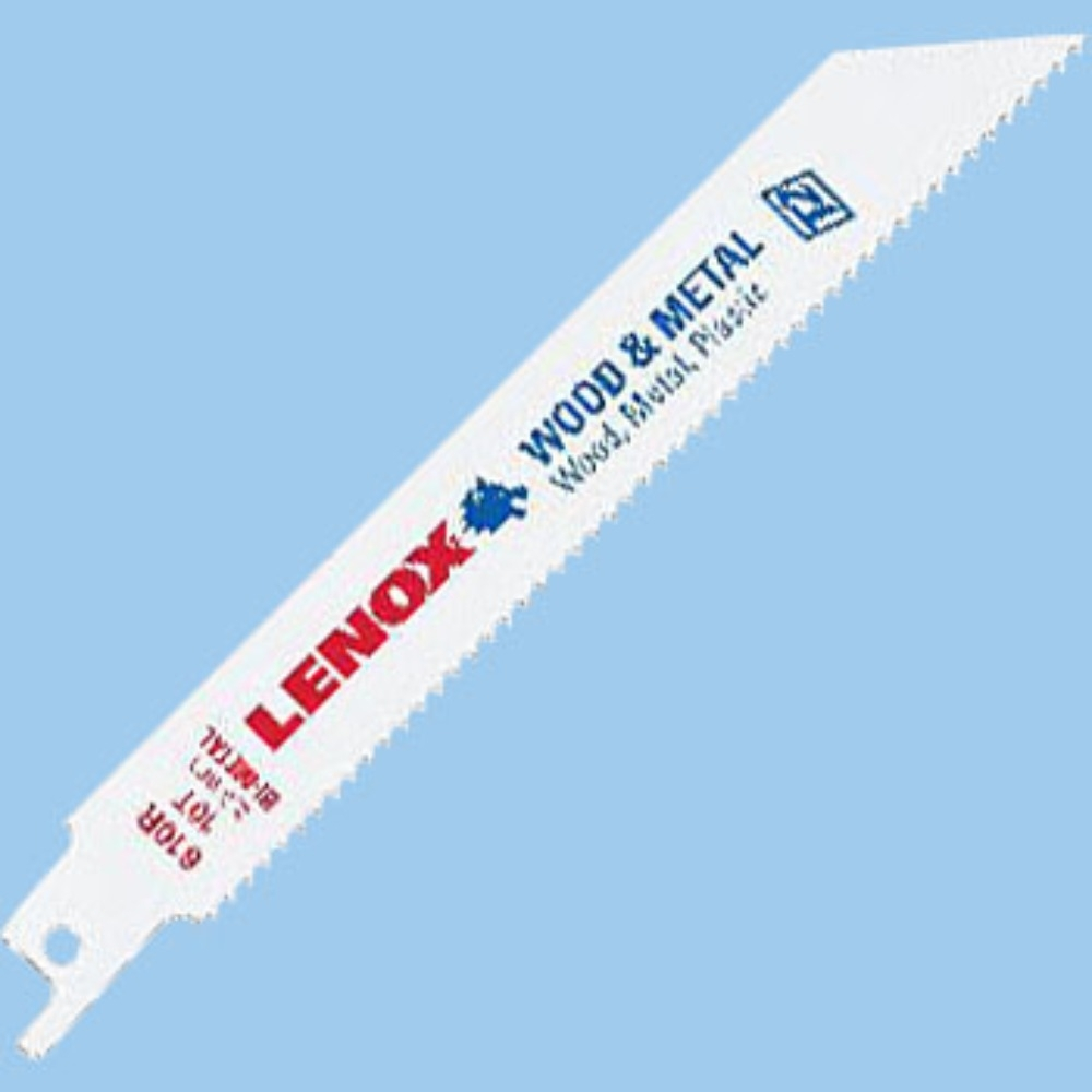 """(5片裝)狼牌 LENOX 610R 長度 6"""" 齒數 10T 金屬軍刀鋸片 適用 金屬 塑膠 木材"""