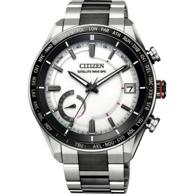 CITIZEN 星辰 限量GPS光動能衛星對時鈦金屬手錶(CC3085-51A)