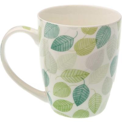 《VERSA》瓷製馬克杯(綠葉350ml)