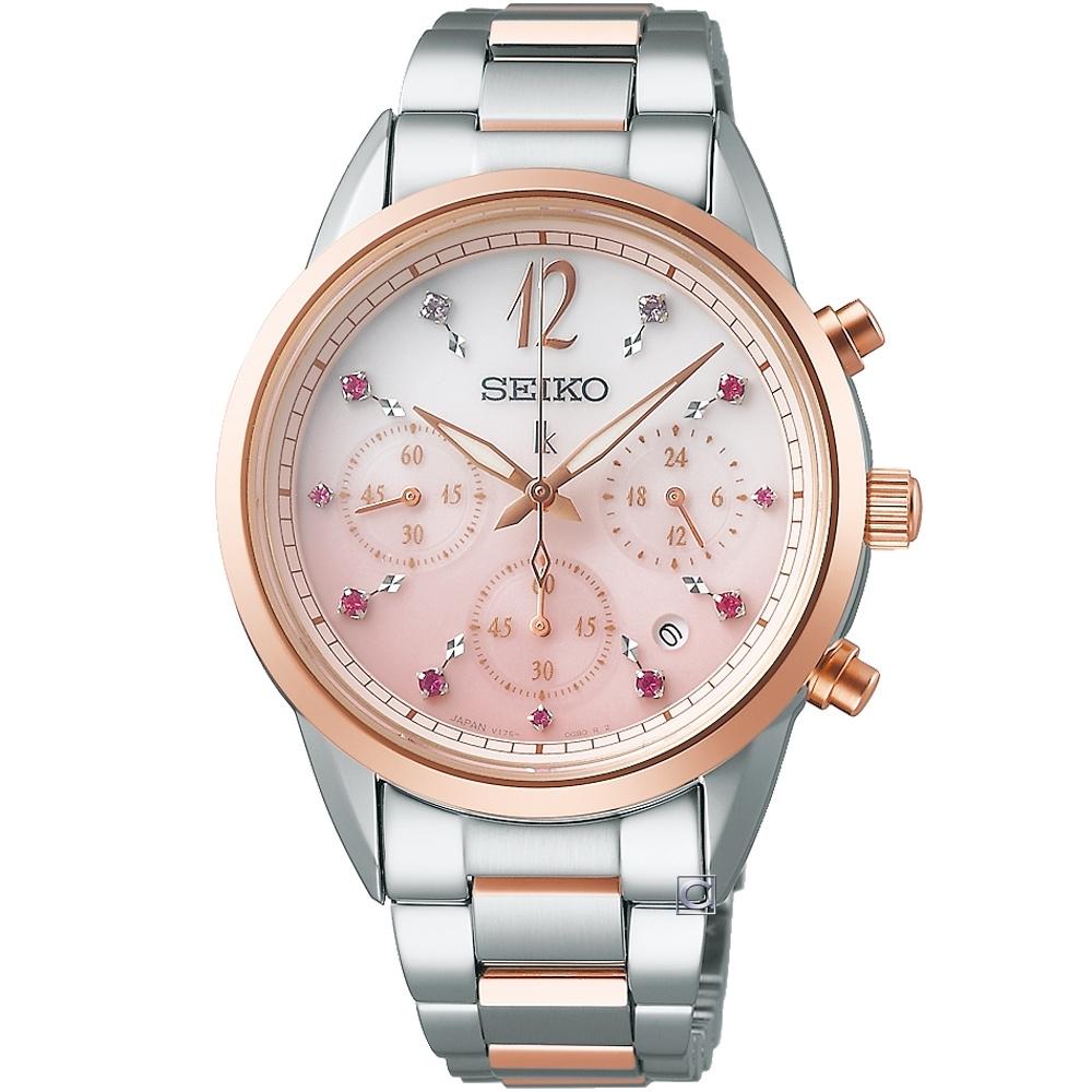 SEIKO 精工 LUKIA 節限量太陽能計時腕錶 (SSC806J1/V175-0EX0P)36.4mm
