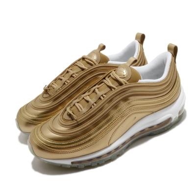 Nike 休閒鞋 Air Max 97 運動 女鞋 經典款 氣墊 避震 簡約 穿搭 金 白 CJ0625700