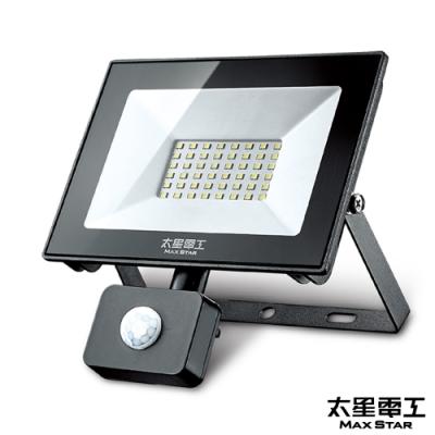 太星電工 50WLED感應投射燈/110V/白光 WDC1050