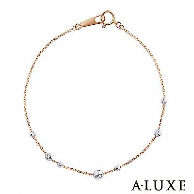 A-LUXE 亞立詩 Shine 經典百搭 18K金白珠雙色手鍊