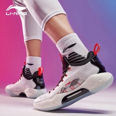 LI-NING 李寧 馭帥XIV Low專業籃球比賽鞋 標準白/標準黑 (ABAQ067-2)