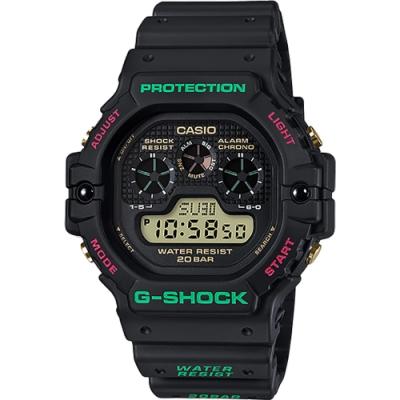 CASIO 卡西歐 G-SHOCK 聖誕節版 數位顯示手錶(DW-5900TH-1)