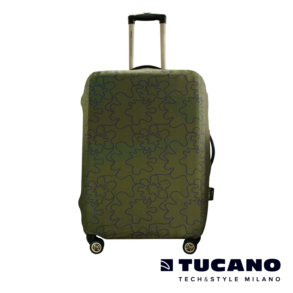 TUCANO X MENDINI 高彈性防塵行李箱保護套 S-墨綠