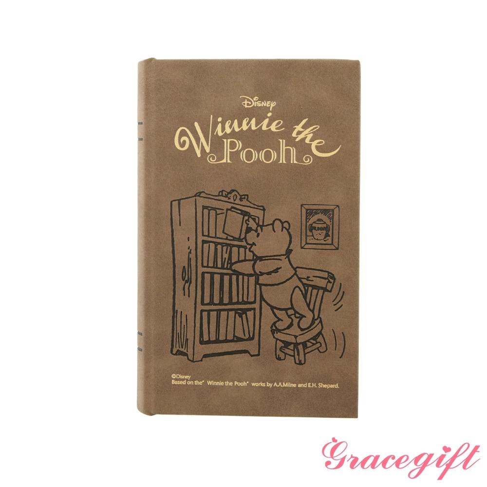 Disney collection by gracegift維尼手拿書本收納盒 咖