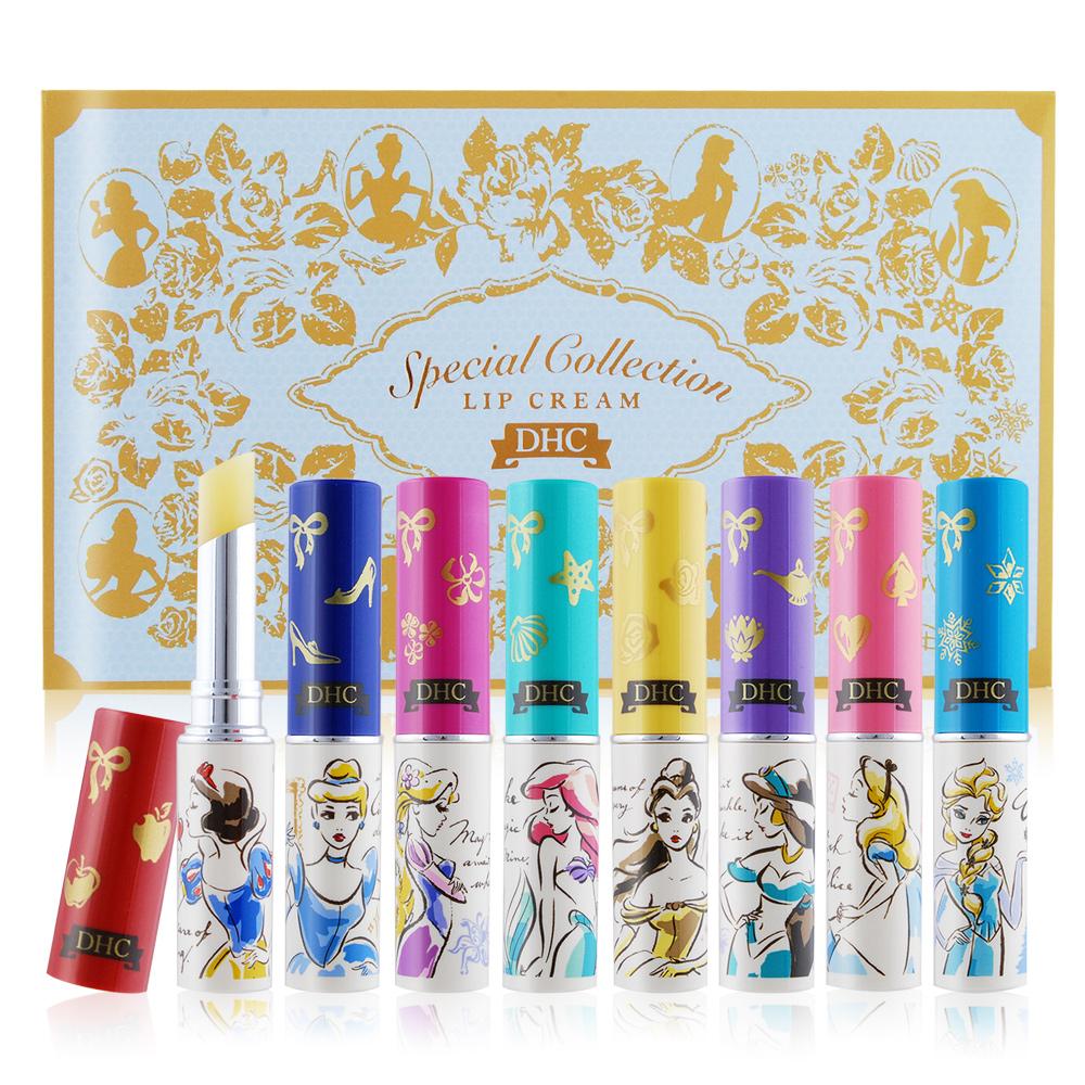 DHC 純橄欖護唇膏-迪士尼公主系列1.5gX8白雪公主/睡美人/小美人魚/貝兒 /愛麗絲
