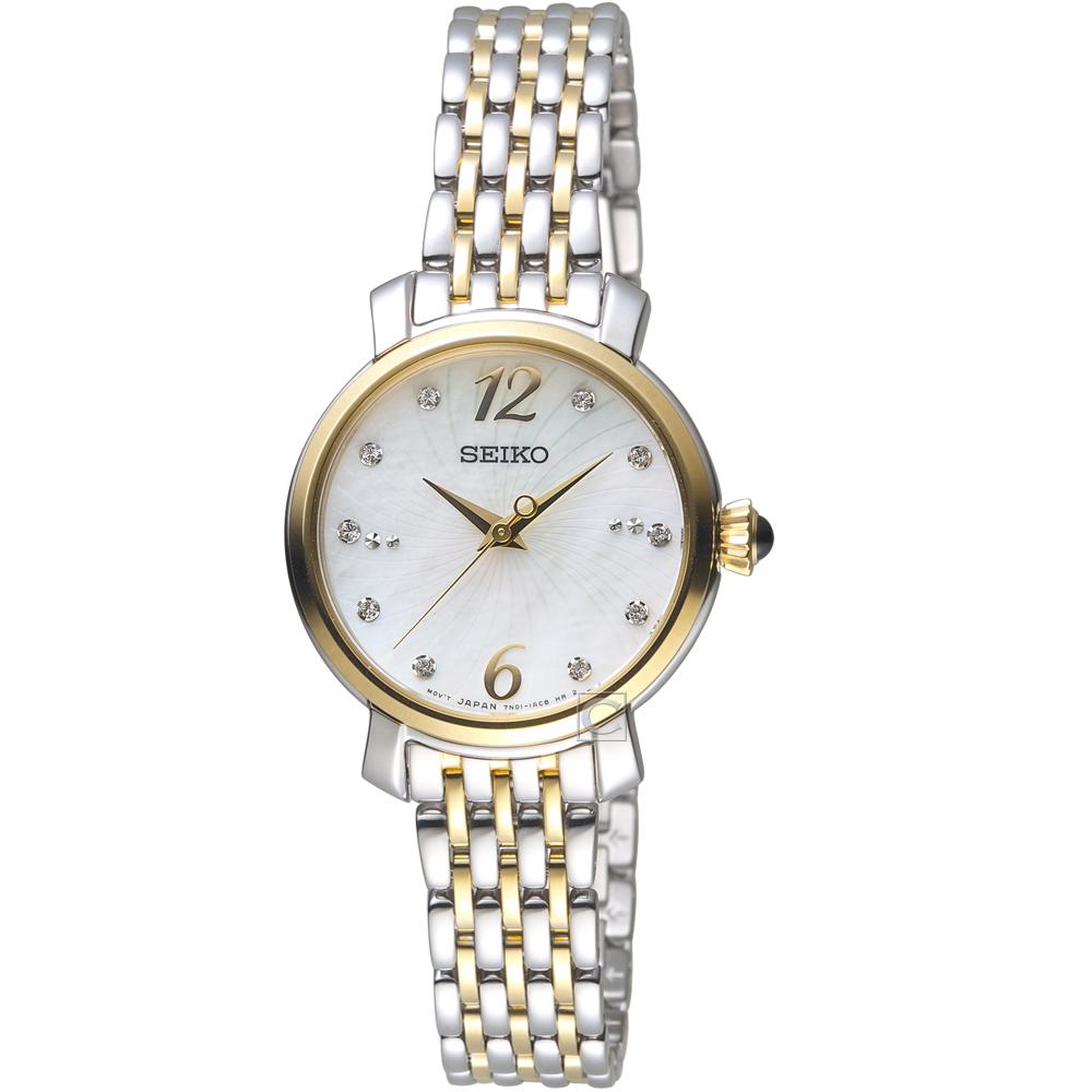 SEIKO精工璀璨綻放時尚碗錶(SRZ522P1)-金色