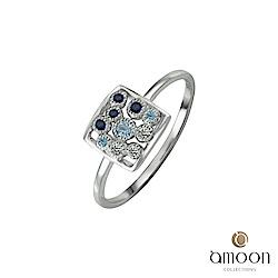 amoon 璀璨星空系列 幻影 K金寶石戒指-藍寶石款