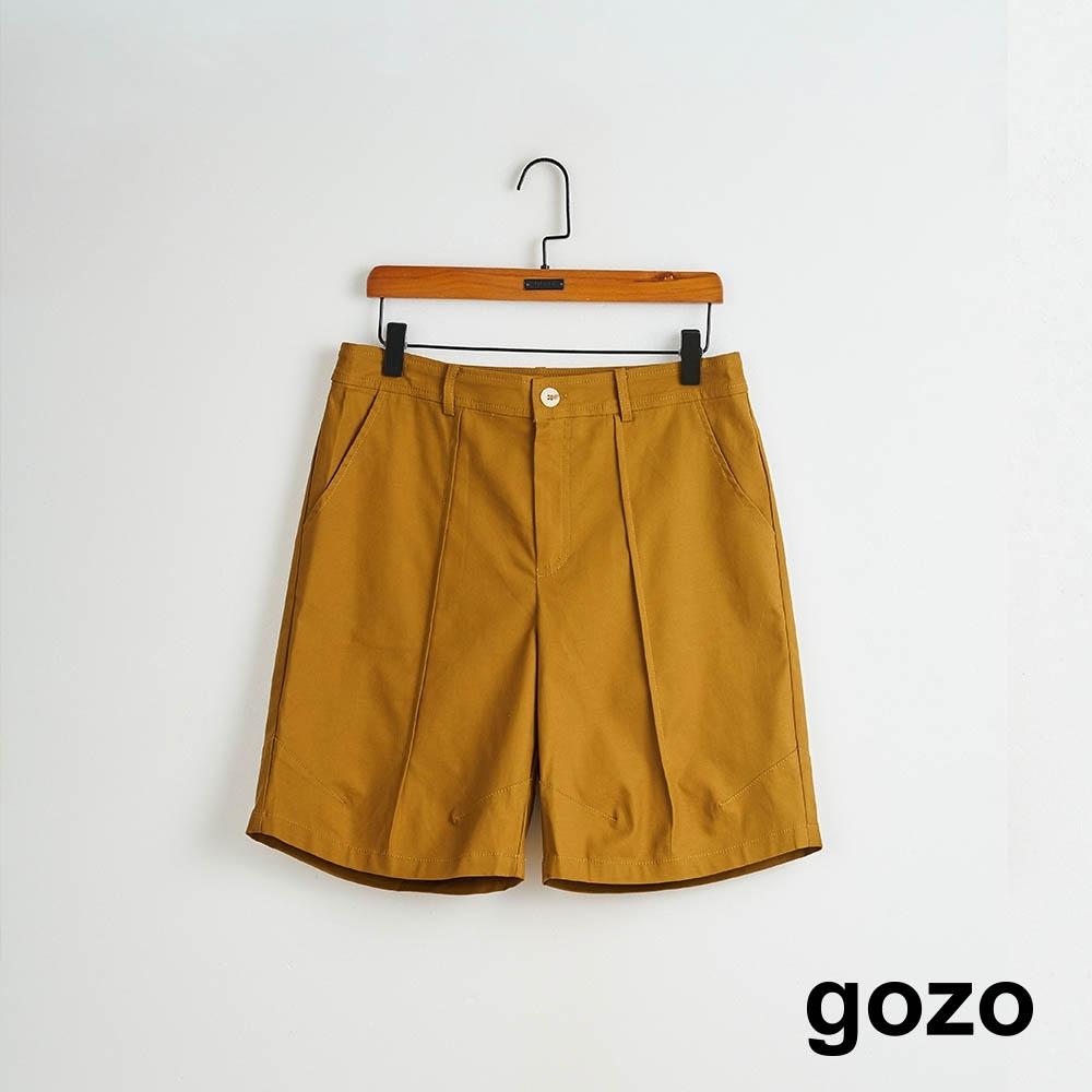 gozo-簡約彈性五分短褲(兩色)