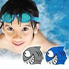 AROPEC 100%矽膠舒適兒童泳帽-鯊魚小子.兒童矽膠泳帽 不勒頭游泳帽子