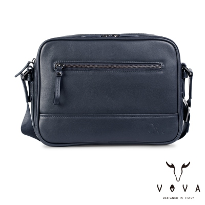 VOVA  公爵系列職人單層斜背包-爵士藍