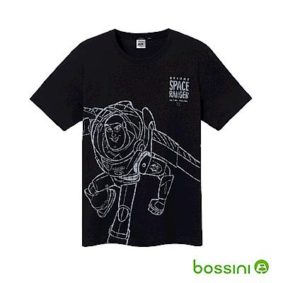 bossini男裝-玩具總動員印花T恤-巴斯光年02黑