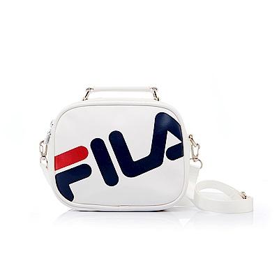 FILA 皮革小型斜肩包-白 BMS-5402-WT