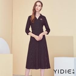 【YIDIE衣蝶】點點獨特鑽飾長洋裝-紅