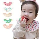 【5條入】MuslinTree嬰兒圍兜寶寶口水巾360度圓形防水圍嘴