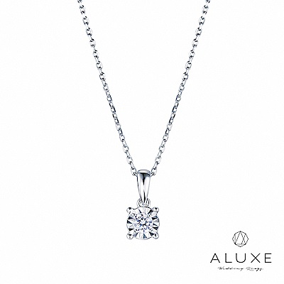 ALUXE 亞立詩 18K金0.16克拉雙倍顯鑽鑽石項鍊