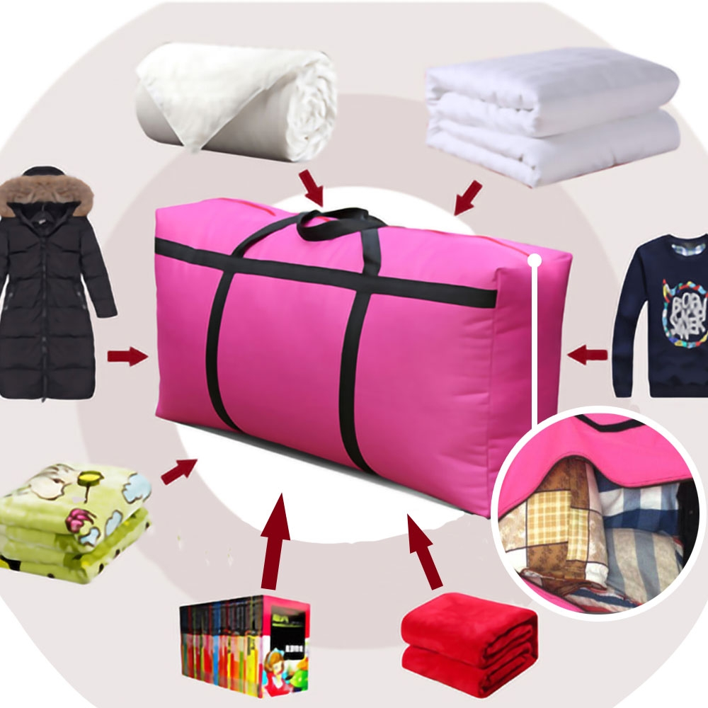 (2入)加固加大防水耐重搬家收納袋棉被袋(贈布藝紅包袋2入隨機款)