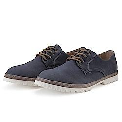 BuyGlasses 綁帶 上班族 皮鞋 休閒鞋-藍