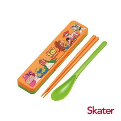 Skater湯匙筷子組(附盒) 玩具總動員