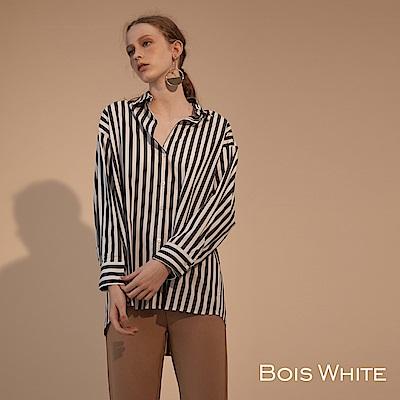 Bois White-條紋寬版襯衫- 條紋