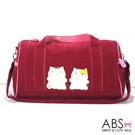 ABS貝斯貓 好朋友貓咪拼布 短期旅程行李袋(可愛紅)88-130
