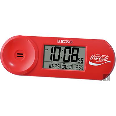 SEIKO精工 Coca-Cola 可口可樂聯名桌鐘(QHL902R)-紅