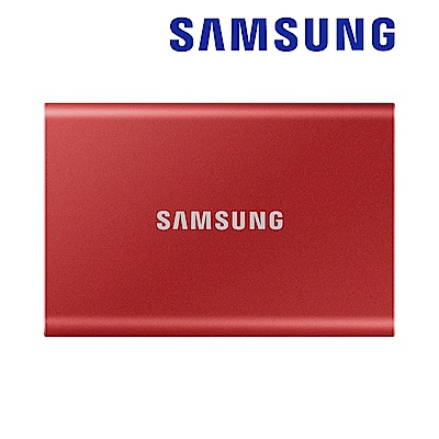 SAMSUNG 三星T7 500G USB 3.2 Gen 2移動固態硬碟 金屬紅 (MU-PC500R/WW)