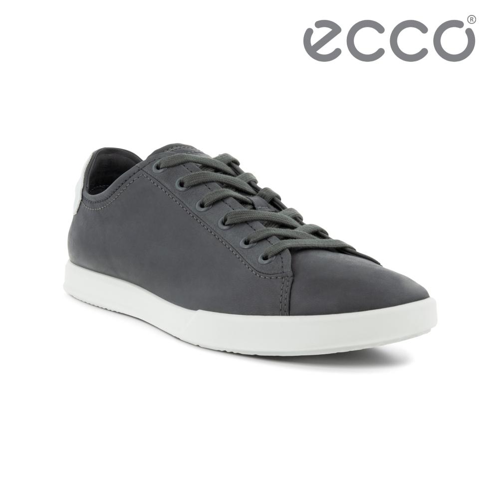 ECCO COLLIN 2.0 時尚單色休閒鞋 男鞋 磁灰色/白色