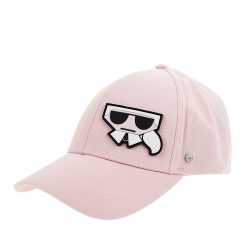 KARL LAGERFELD 新款Q版側邊造型卡爾棒球帽 (粉紅)
