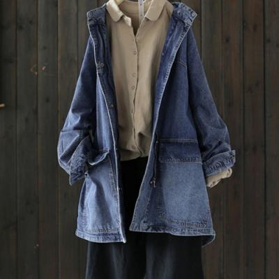 寬鬆純棉牛仔外套-設計所在