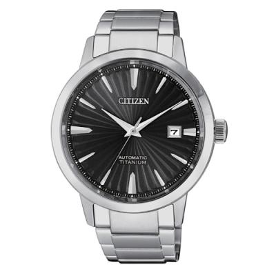 CITIZEN星辰 紳仕氣度鈦金屬機械腕錶NJ2180-89H
