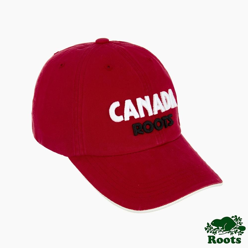 配件- ROOTS CANADA棒球帽-紅色