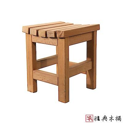 【雅典木桶】天然無毒芬多精 高31CM 國寶級檜木板凳