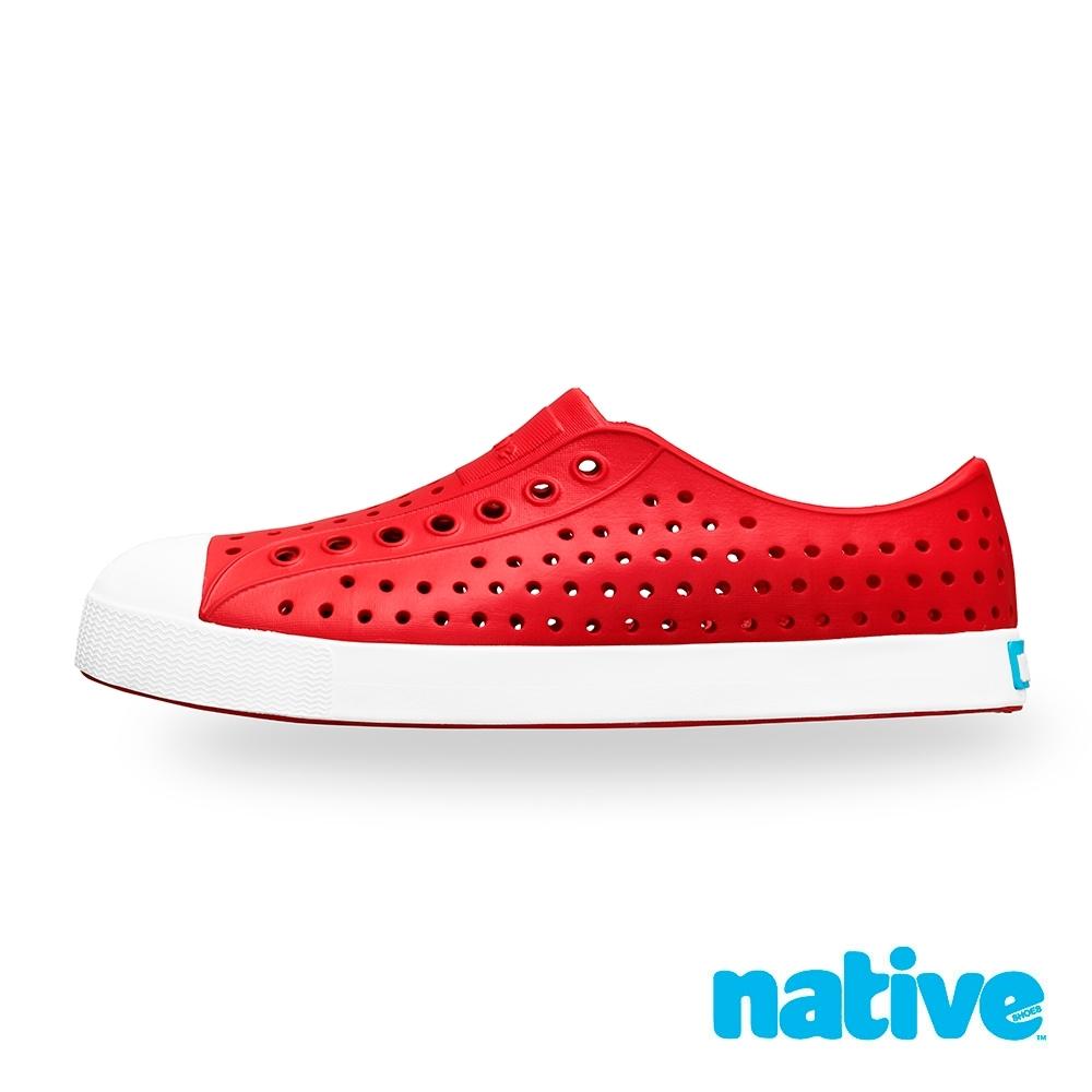 native JEFFERSON 男/女鞋-消防紅x貝殼白