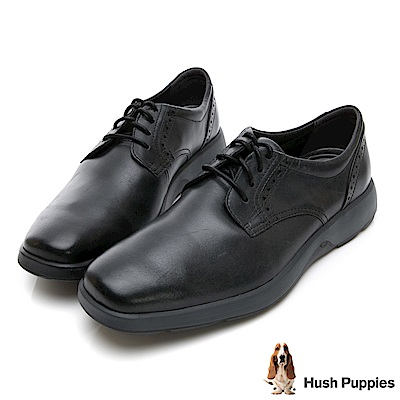 Hush Puppies WOLFHOUND 紳士綁帶皮鞋-黑
