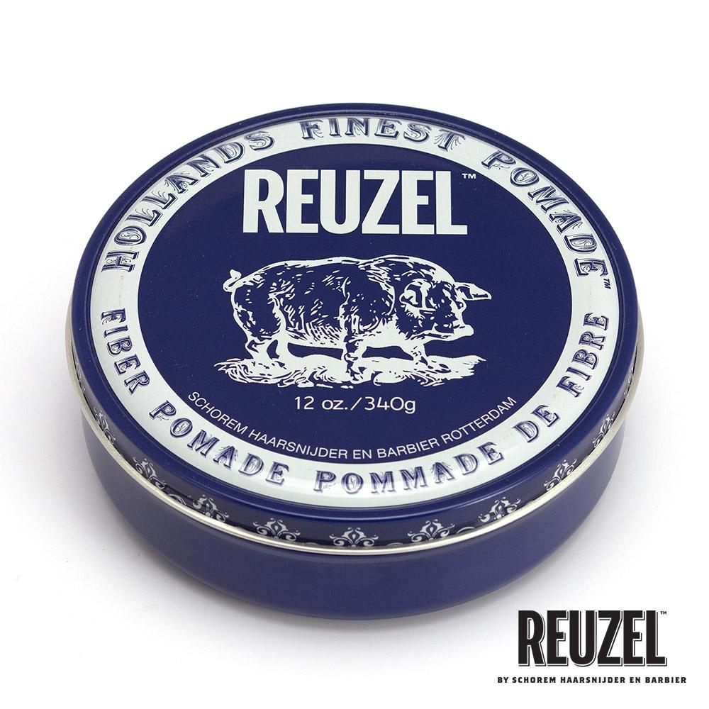 REUZEL Fiber Pomade深藍豬強力纖維級水性髮泥340g