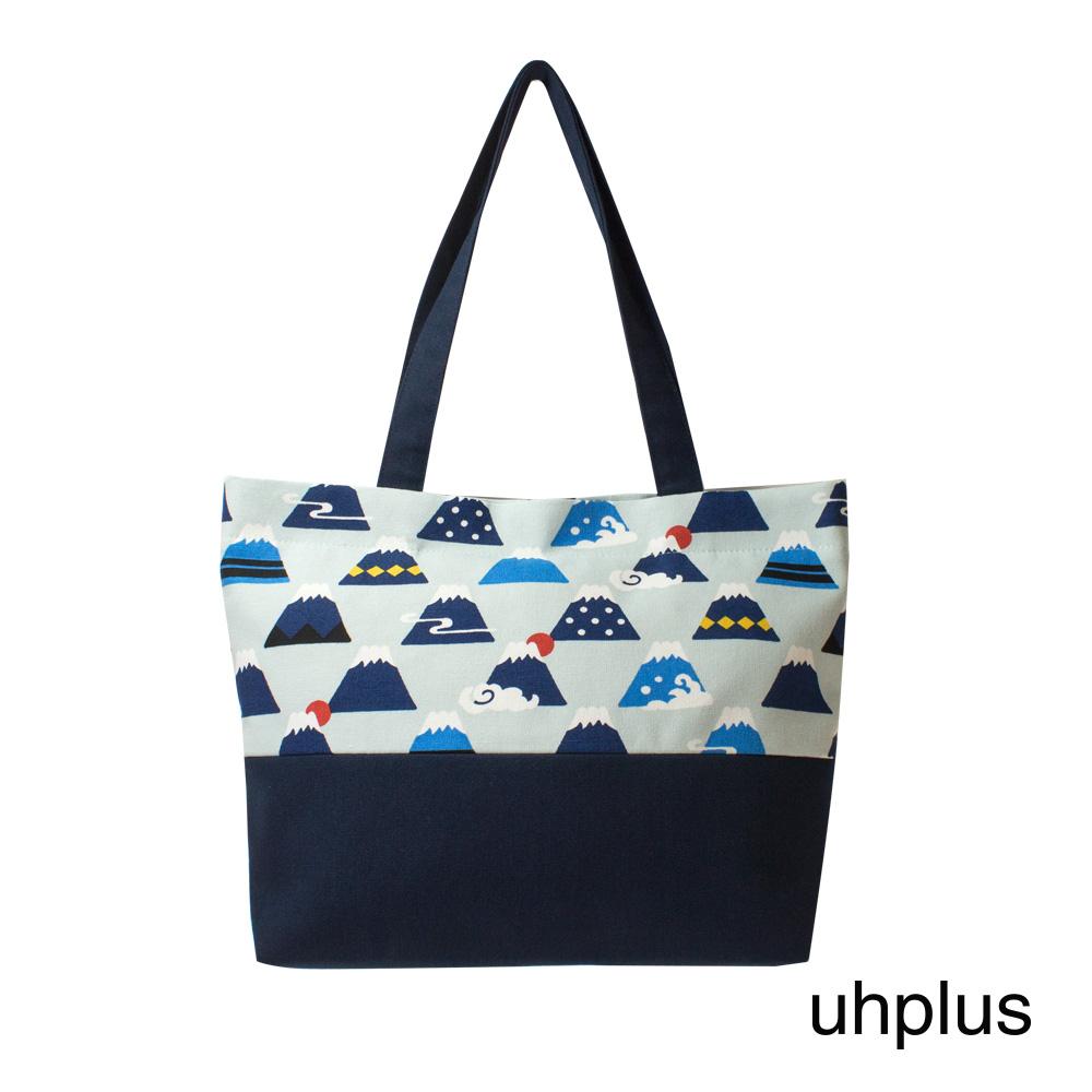 uhplus 輕托特- 微笑富士(水藍)