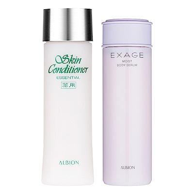 ALBION艾倫比亞 健康化妝水N(330ml)+活潤滋養身體精華(150ml)