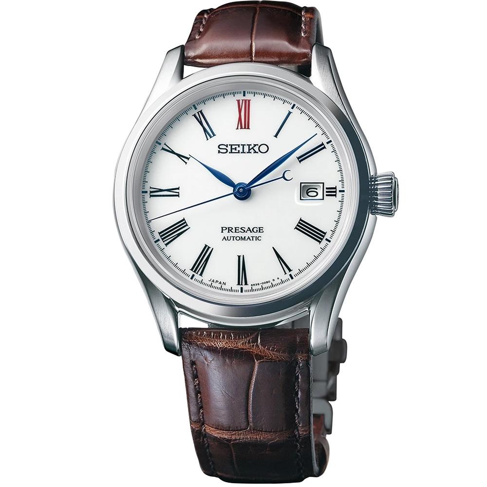 SEIKO 精工 Presage 有田燒陶瓷工藝大三針機械錶(SPB095J1)