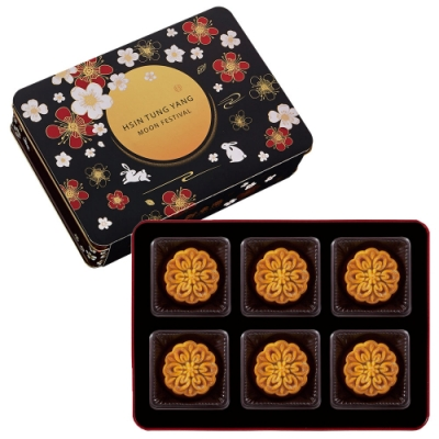 新東陽 中秋禮盒 廣式純素月餅禮盒(6入/盒)(椰香蓮蓉 鳳梨 棗泥)
