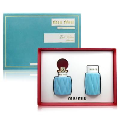 MIU MIU 繆斯女神淡香精 50ml+ 繆斯女神乳液 100ml 禮盒組(限量)