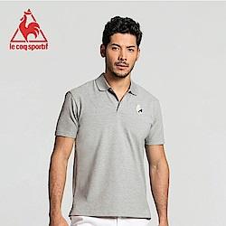 le coq sportif 法國公雞牌經典多色復古短袖POLO衫 男-灰
