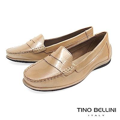 Tino Bellini 巴西進口經典復刻漆皮休閒莫卡辛鞋 _ 亮駝