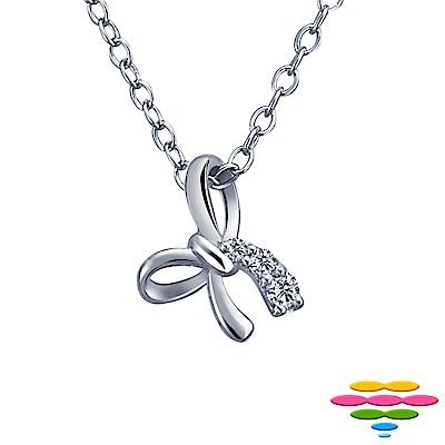彩糖鑽工坊 日本10K 蝴蝶結鑽石項鍊 小確幸系列