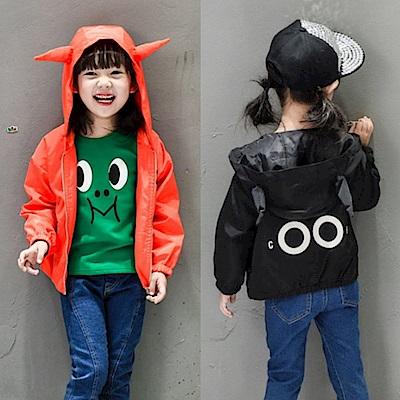 小衣衫童裝   小惡魔蝙蝠衫長袖連帽拉鍊外套1051010