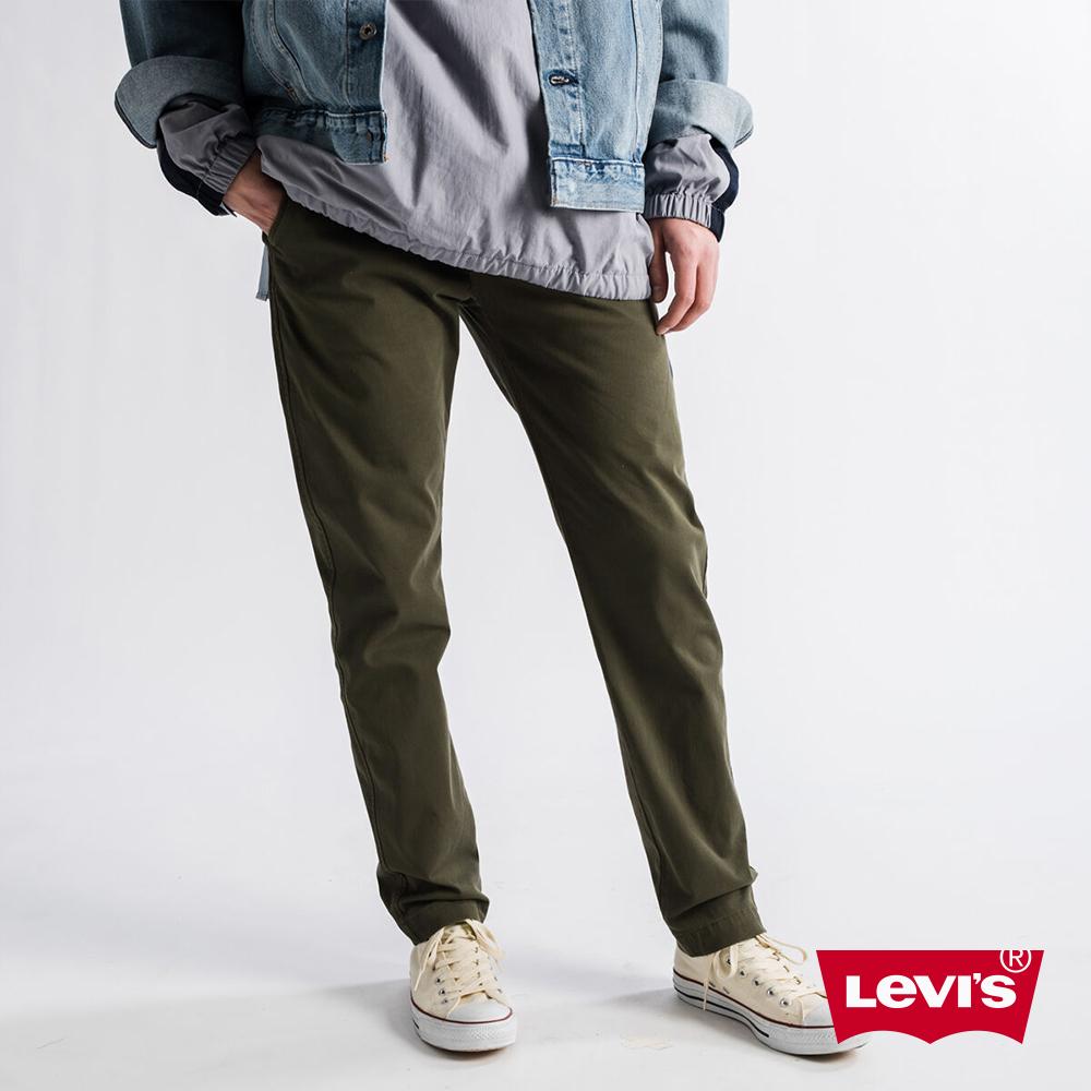 Levis 男款 Chino卡奇休閒褲 上寬下窄修身窄管版型 防盜暗袋 超彈力布料