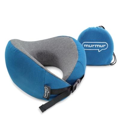 murmur-牛角頸枕-藍 NPN002(附收納袋)